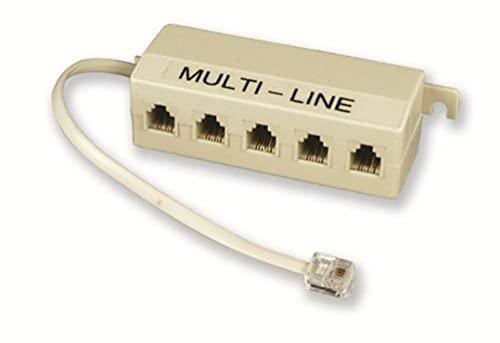 Electraline 208562020 - Regleta con 5 tomas telefónicas y cable