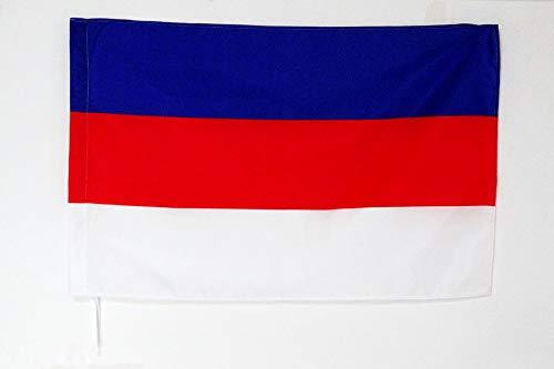 AZ FLAG Flagge SORBEN 90x60cm - PANSLAWISCHEN Fahne 60 x 90 cm Scheide für Mast - flaggen Top Qualität