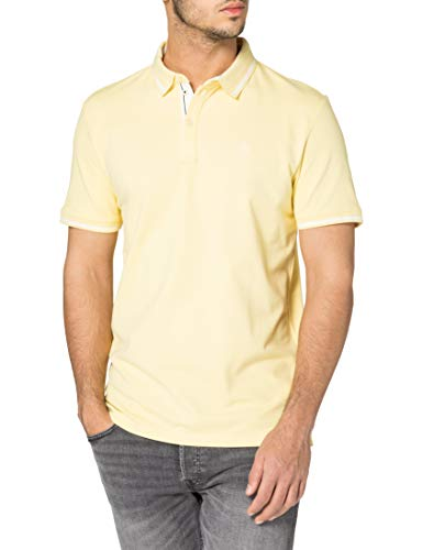 TOM TAILOR Herren 1025433 Basic Polohemd, 22564-Pale Straw Yellow, XL