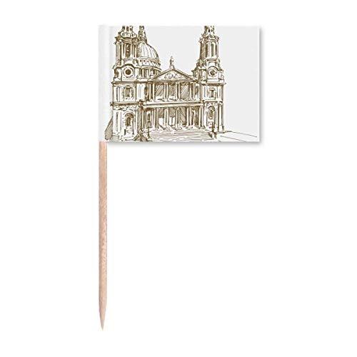 St.Paul's Cathedral England London Zahnstocher Flaggen Marker Topper Party Dekoration