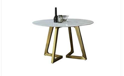 Eettafel LKU Onderhandelingstafel en stoel combinatie moderne minimalistische marmeren eettafel ronde salontafel, 135cm
