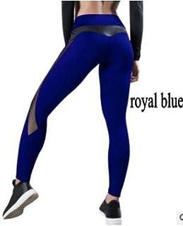 Leggings - Women Leggings Sport Seamless Yoga Pants Super Stretchy Gym Pants Fitness Running Tights Jogging Trousers (Blue...