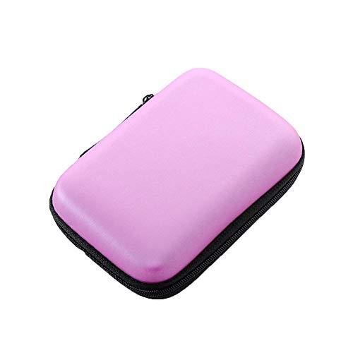 AiKoch 2,5 HDD-Tasche Externe USB-Festplatte Kabel Hülle Tasche Kopfhörer Speicherkarte Tasche Für PC Laptop-Festplatte Fall Convenient (Color : Random)
