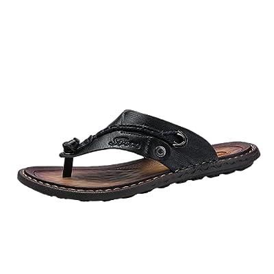Amazon - 80% Off on Men's outdoor flip-flop sandals, microfiber leather flip-flops beach shoes, handmade T-shaped sandals