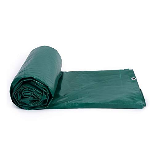 AMDHZ Lonas Impermeables Exterior Espesar Impermeable de Doble Cara al Aire Libre Lona alquitranada Proteccion Solar Sombra Equipo de Proteccion Lona for Patios (Color : Green, Size : 3.8x5.8m)