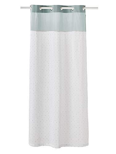 Vertbaudet Gardine, Mint auf Wasserbasis, 105 x 240 cm, mehrfarbig