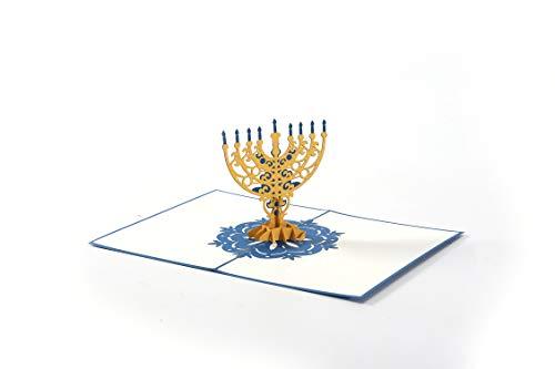 Liif Hanukkah 3D Greeting Pop UP Hanukkah Card, Happy Hanukkah Card