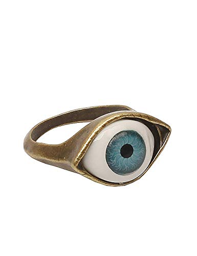 Aeromdale Anillo de ojo azul de exageración retro estilo punk
