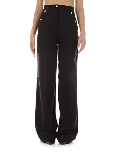 VERSACE JEANS COUTURE A1HUB106 Pantaloni Eleganti Donna Nero 42
