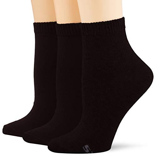 Skechers Socks Damen Sk42005 Füßlinge, Schwarz (Black 9999), (Herstellergröße: 39/42) (3er Pack)