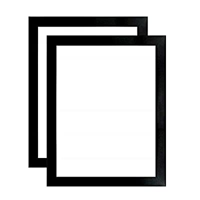 US Art Frame Satin Black 1.25 Inch Flat, Wood Composite MDF Wall Decor Picture & Poster Frame - Single, Set of 2 & 4 from US Art Inc