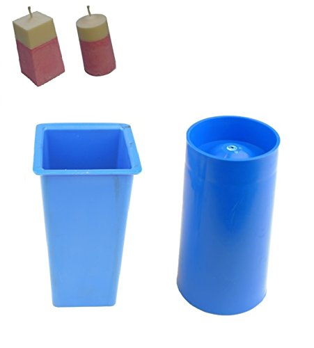 Proops Set x 2 Candle Moulds, Square Top Rectangular Tapered Mould & Pillar Shaped Mould (S7699). Free UK Postage