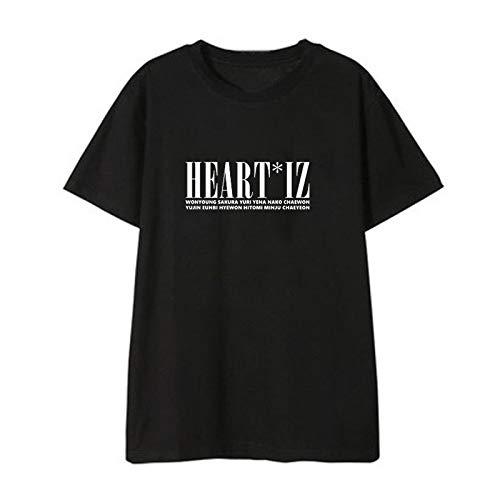 APHT IZONE Camiseta de Manga Corta Casual T-Shirt Cuello Redondo de Verano Top WONYOUNG Yuri YENA YUJIN NAKO EUNBI HYEWON Hitomi CHAEWON MINJU CHAEYEON