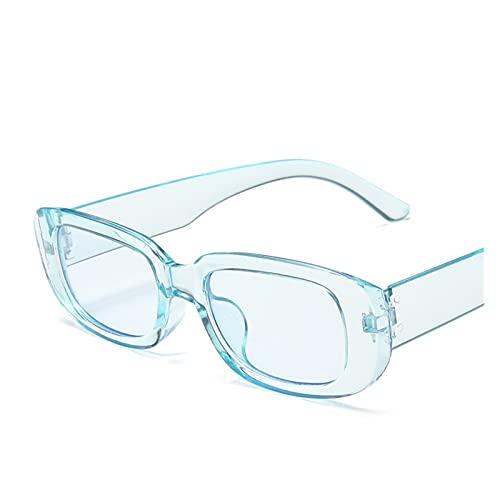 Classic Retro Square Gafas de Sol Mujer Marca Vendimia Viaje Pequeño Rectángulo Gafas de Sol para Mujer (Lenses Color : C9 Blue)