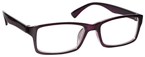 Uv Reader Porpora Miope Distanza Occhiali Per Piopia Uomo Donna Uvm092P -1,00 - 50 Gr