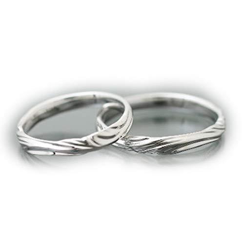 [ココカル]cococaru ペアリング 2本セット K10 ホワイトゴールド マリッジリング 結婚指輪 日本製 (レディースサイズ18号 メンズサイズ19号)
