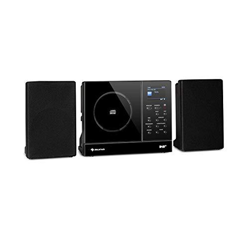 "auna Connect Vertical - Internetradio, 2 x Lautsprecher (2 x 10 Watt), MP3-fähiger CD-Player, Internet/UKW/DAB+ Radiotuner, Spotify-Connect, Bluetooth-Funktion, HCC Display: 2,4"" TFT, schwarz"