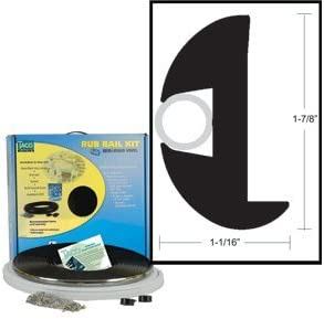 TACO Flex Vinyl Rub Rail Kit - Black w/Black Insert - 50' - 1-7/8