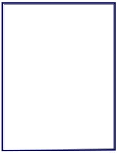 Great Papers! Navy Border Letterhead, 8.5