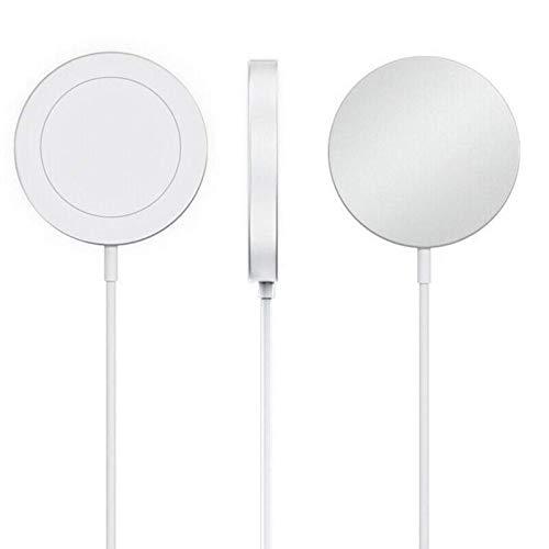 Cargador inalámbrico magnético de 15 W, adecuado para el cargador inalámbrico rápido iPhone 12 Pro Max, base de carga rápida, adecuado para el cargador magnético Iphone12 Pro