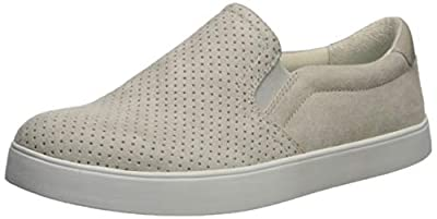 Dr. Scholl's Shoes Women's Microfiber Perforated Sneaker, Greige, 7 Wide