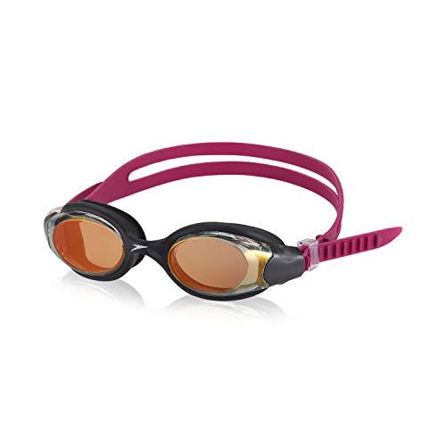 Speedo Unisex-Adult Swim Goggles Hydrosity , Mirrored Black/Clear