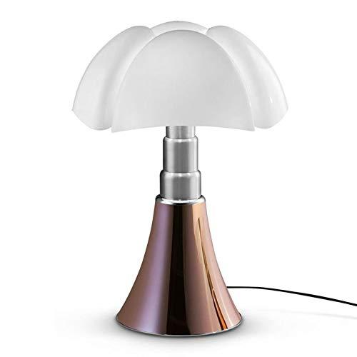 PIPISTRELLO-Lampe Dimmer LED pied télescopique H66-86cm Cuivre Martinelli Luce - designé par Gae Aulenti