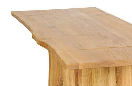 Main Möbel boomtafel 180(260) x100cm 'Amber' wilde eiken massief