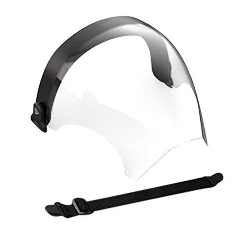 1 Stück Wieder-Verwendbarer Plastik Mund-Schutz, Gesicht-Umschließende Klarsicht-Maske, Transparente Mehrweg Community-Maske, Waschbar Mund und Nasen-Schutz,mit Anti-Beschlag