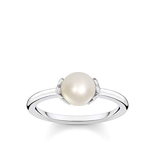 THOMAS SABO Damen Ring Perle mit Sternen 925 Sterlingsilber TR2298-167-14
