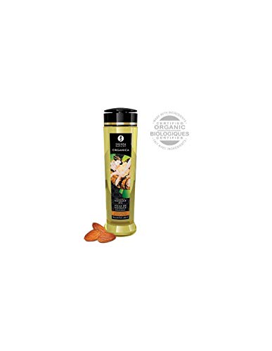 Shunga Erotic Art Organica - Kissable Massage Oil - 8.0 Oz - Almond Sweetness