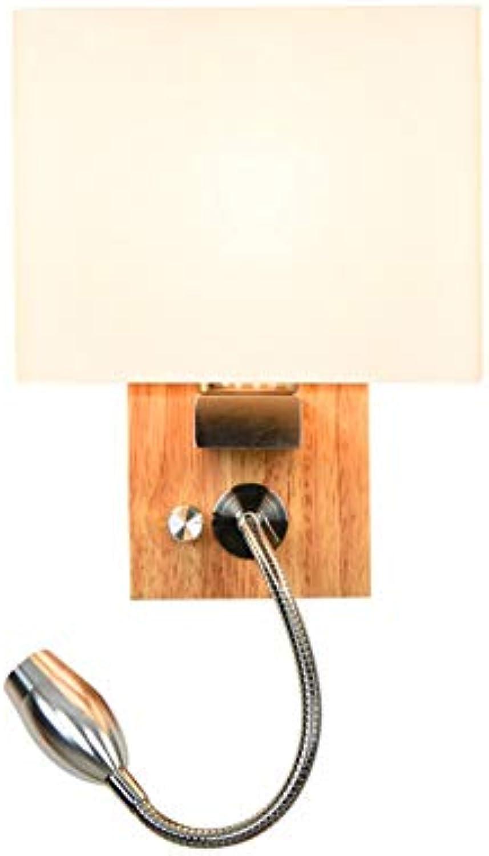 Modern LED Wandleuchte Nordic persnlichkeit schlafzimmer nachttischlampe holz wandleuchte lesung einfache moderne arbeitsraum treppenhaus LED kreative lichtlnge 17 CM  breite 14 CM  hohe 35 CM