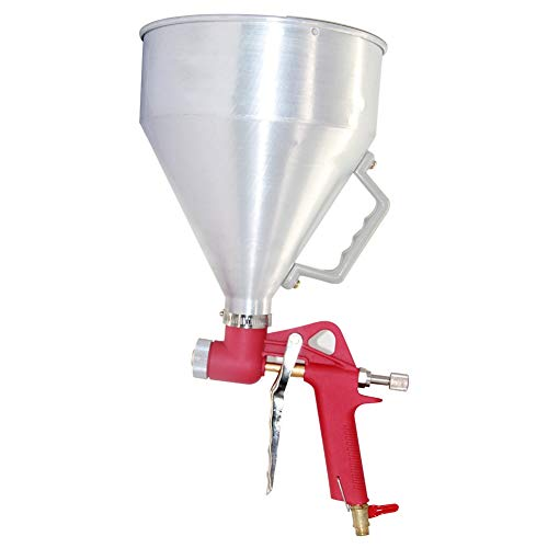 Joywayus Air Hopper Spray Gun with 4.0mm/6.0mm/8.0mm Nozzle Paint Texture Drywall Painting Sprayer, White, 1.58 Gallon (6 L) Straight