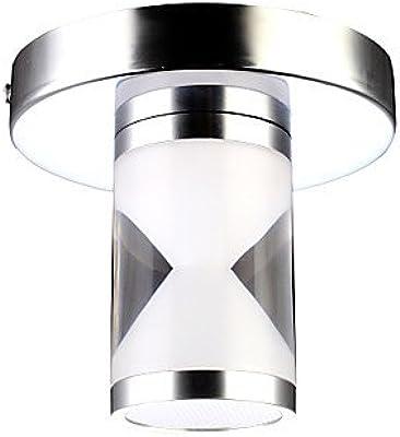 HJL- Led Flush Mount, 1 Light, Modern Cylinder Acrylic Steel Electroplating , 90-240V-Warm White