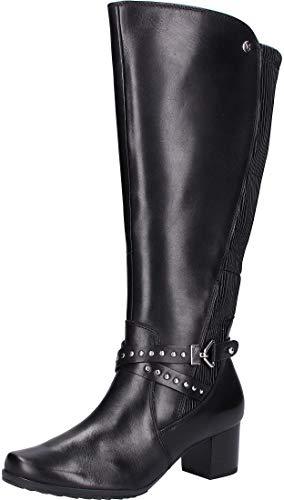 CAPRICE 25616-21 Damen Weitschaft-Stiefel Glattleder herausnehmbare onAIR Sohle, Groesse 7 1/2, schwarz