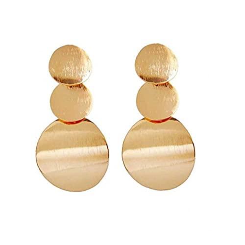 cdzhouji Pendientes De Moda Pendientes De Oro Círculo Drop Dright Pendientes Pendientes Vintage Declaración Redonda Pendiente Geométrico Joyería para Mujeres