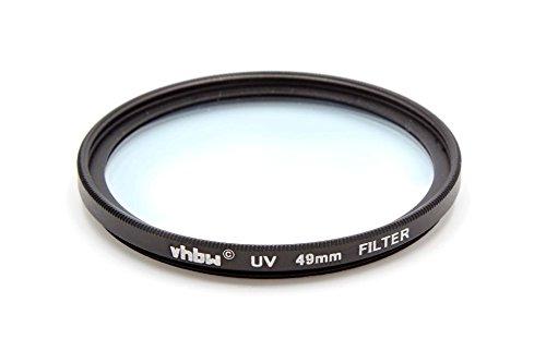 vhbw Universal UV Filter kompatibel mit Kamera Objektiven mit 49mm Filtergewinde - UV Schutzfilter, Schwarz