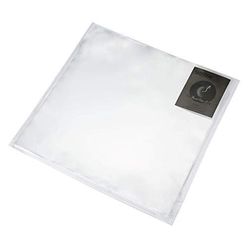 Skyreat - Funda exterior para discos de vinilo de 12', transparente, duradera, sin arrugas y de polipropileno puro, 50 unidades