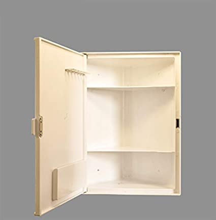 Charlie Bathroom Corner Cabinet With Storage 3 Shelves And Mirrors Model Grace Ivory Amazon In Furniture