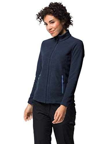 Jack Wolfskin Damen W MOONRISE JKT Fleecejacke, midnight blau, L