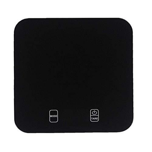 Balances de cuisine numériques, échelles tactiles avancées en verre trempé Balances électroniques pour aliments avec rétroéclairage LCD Fonction d'arrêt automatique de la tare (couleur: noir, taille