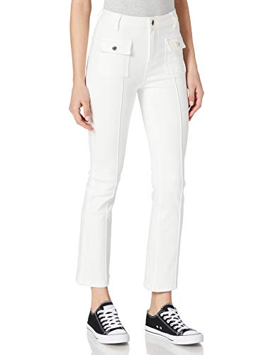 Morgan Denim Cropped PIKAL Jeans, Off White, 38 para Mujer