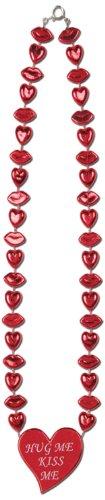 Beistle 70270 Collier en forme de cœur pour Saint-Valentin 56 cm