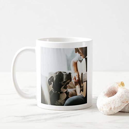 Yilooom Cute Cup Present, Taza de café con foto para amantes de perros, 11 oz
