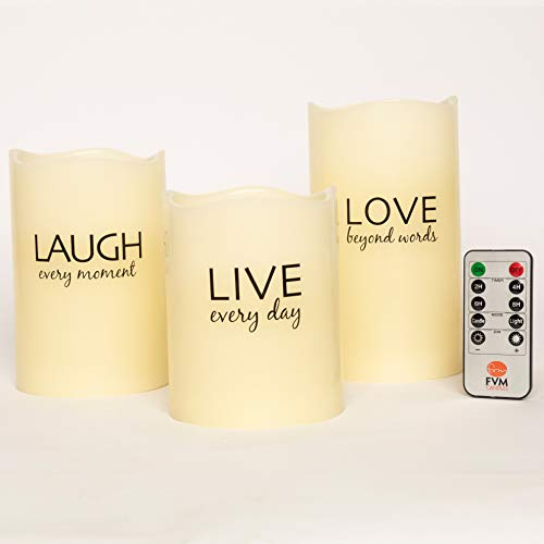 Live Laugh Love Flameless Candles By Fvm Flickering Led Lights Home Decor Relaxation And Stress Reduction