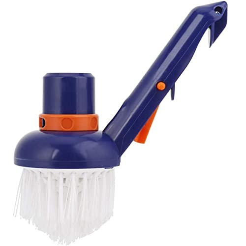 Pool Step & and Corner Cleaning Brush Best for Above Ground & Inground Swimming Pools, Spas & Hot Tubs, Fine Bristles, 1-1/2 Hose & 1-1/4 Pole Connection, Tackles Hard to Reach Places