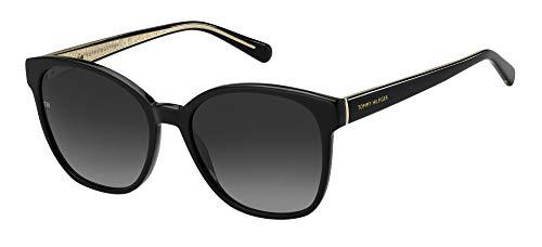 Tommy Hilfiger Gafas de Sol TH 1811/S Black/Grey Shaded 55/17/140 mujer