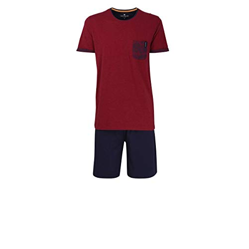 TOM TAILOR Herren Shorty rot Melange 1er Pack 52