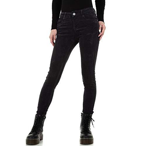 Ital Design Damen Used Look Low Skinny Jeans Redial Denim Paris Gr. XL/42 Dunkelgrau