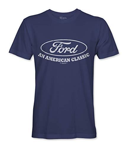 Ford Motors Official Licensed American Classic Herren T-Shirt (XL, Marinenblau)
